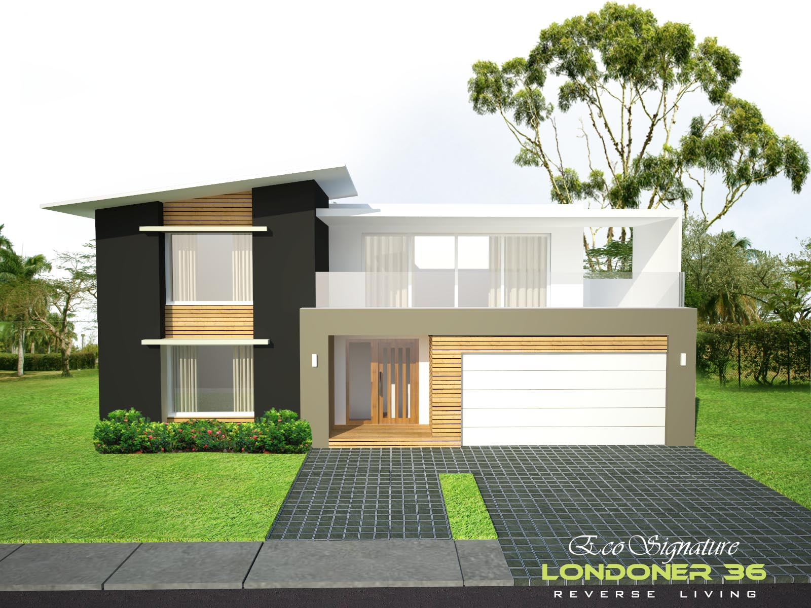 Delightful Reverse Living House Plans Australia